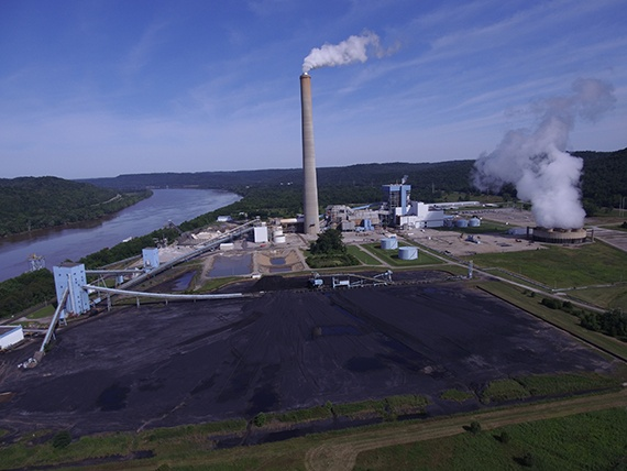 Drone Thermal Power Plant Inspection