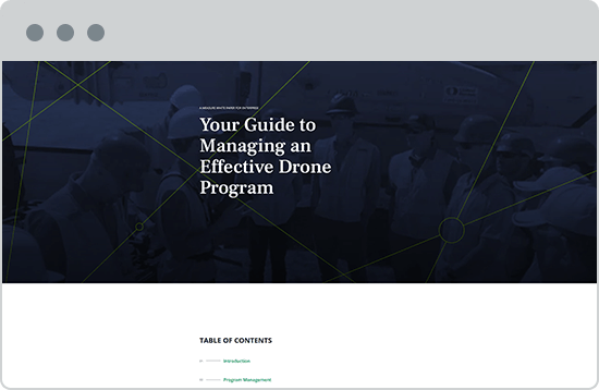 Guide to Managing an Effective Drone Program