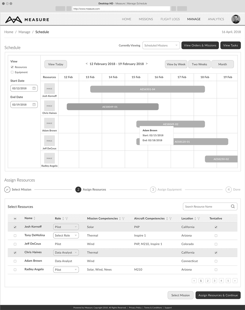 drone software scheduling