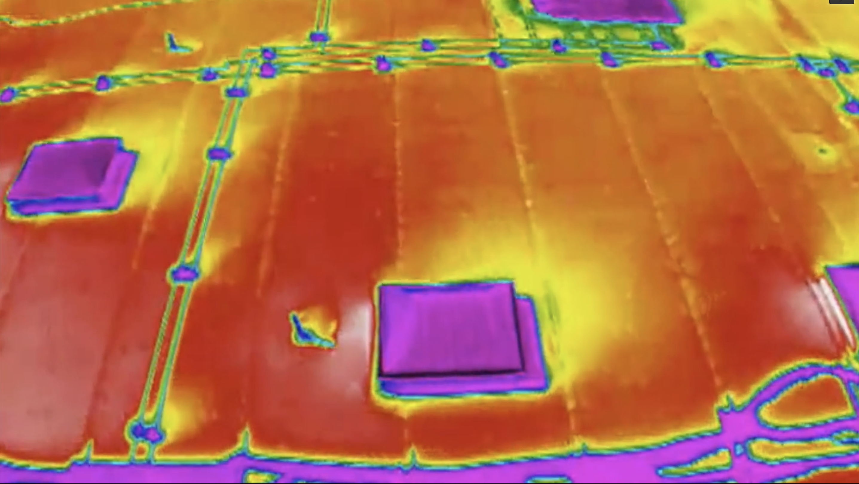 thermal aerial image captured from a drone