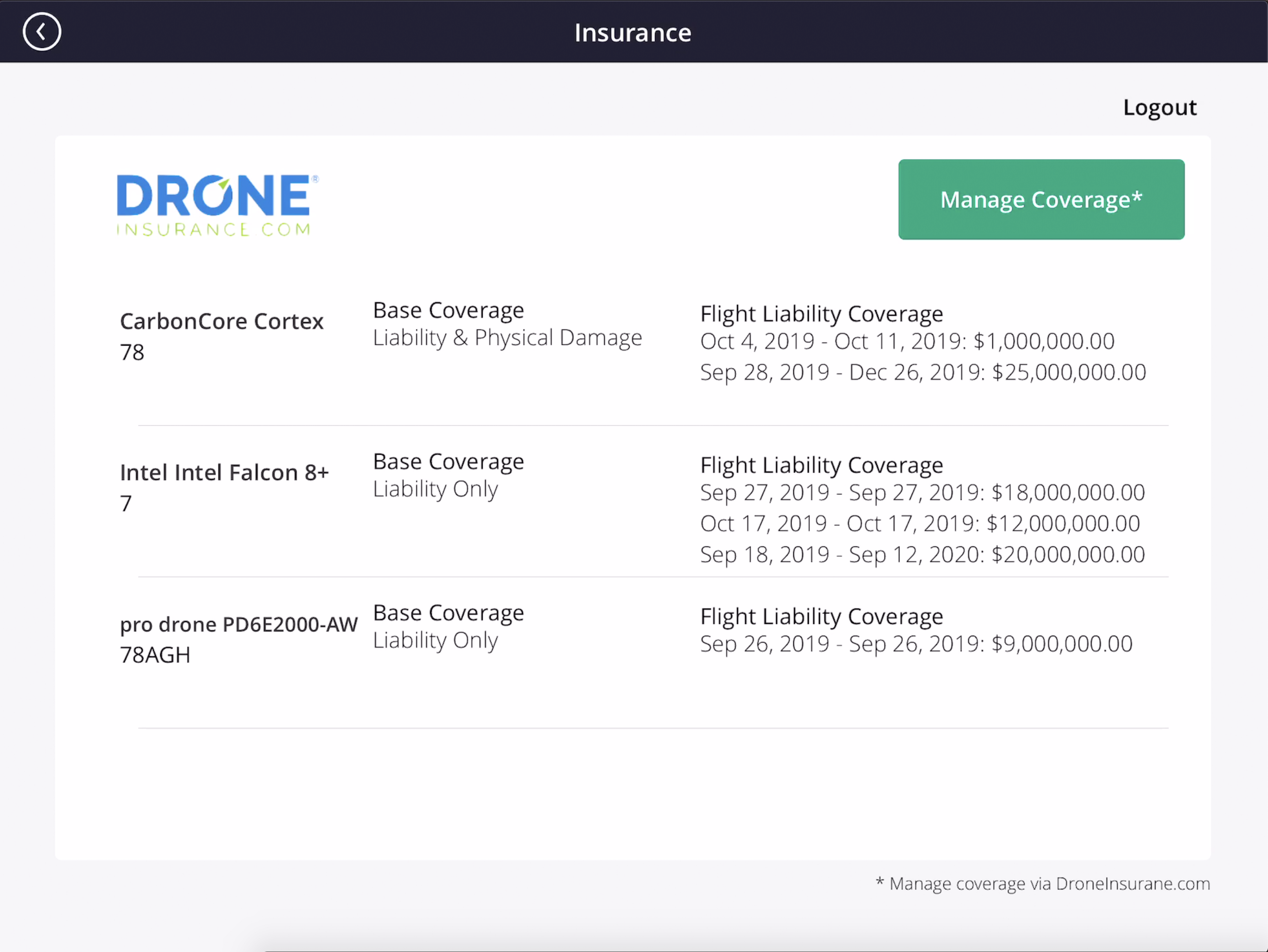 Measure Integration - Insurance Listing - implemented