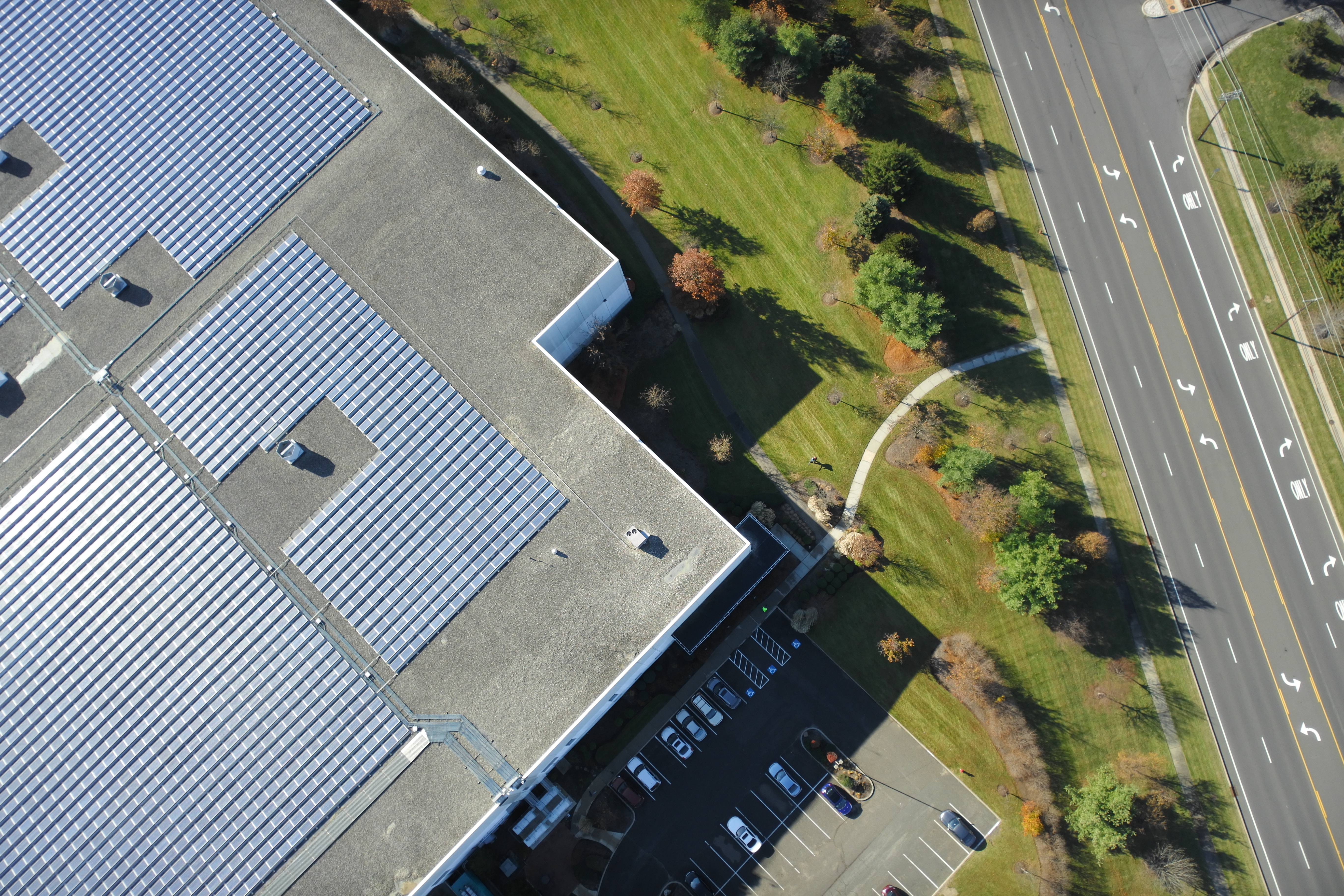 Solar Roof Inspection by Drone
